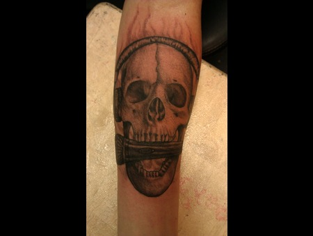 Skull Done With Afterlife Redemption Black White