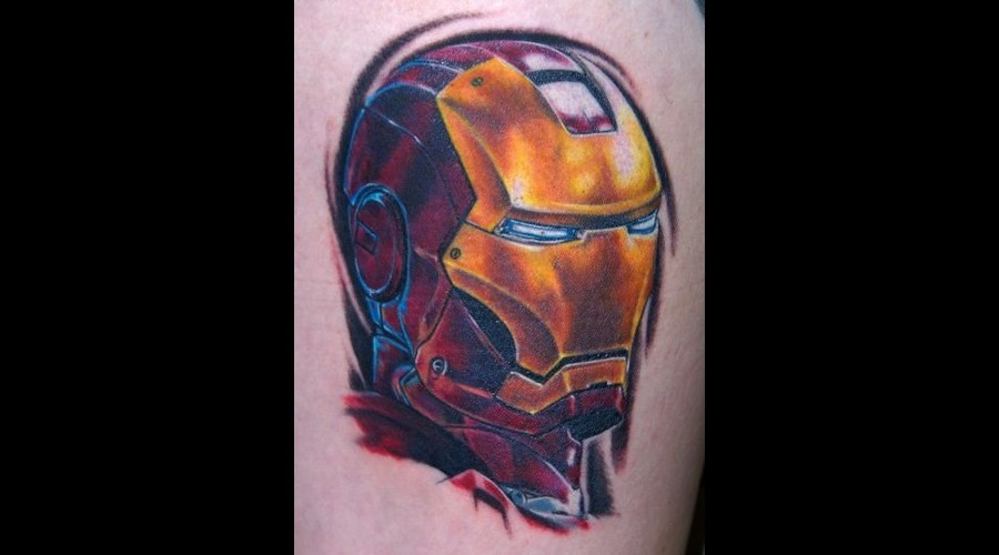 Iron Man  Marvel  Comic  Portrait Color Thigh