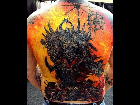 Back Piece  Warhammer  40k  Fantasy Color Back