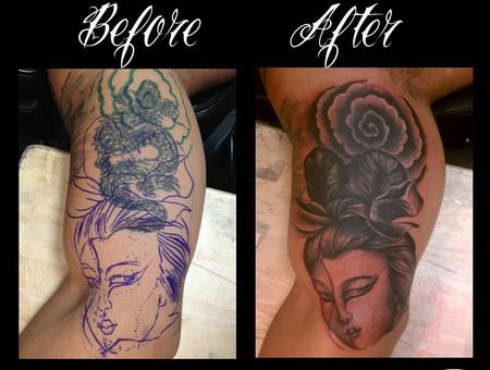 Cover Up Done With Afterlife Redemption Black White