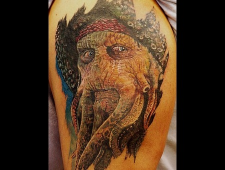 Davy Jones  Pirate  Portrait  Realistic Color Shoulder