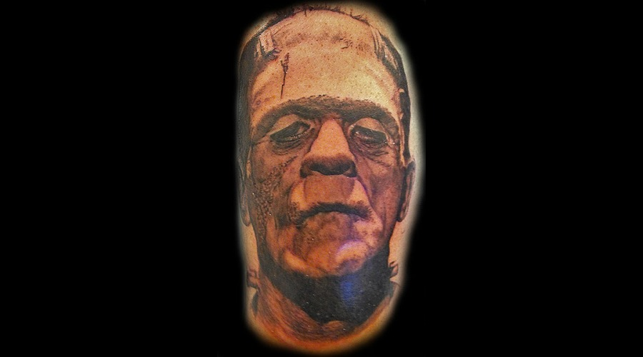 Frankenstein  Horror  Halloween Black Grey Arm