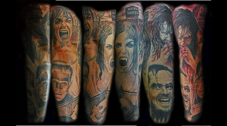 Horror  Exorcist  Shinning  Frankenstein Black Grey Arm