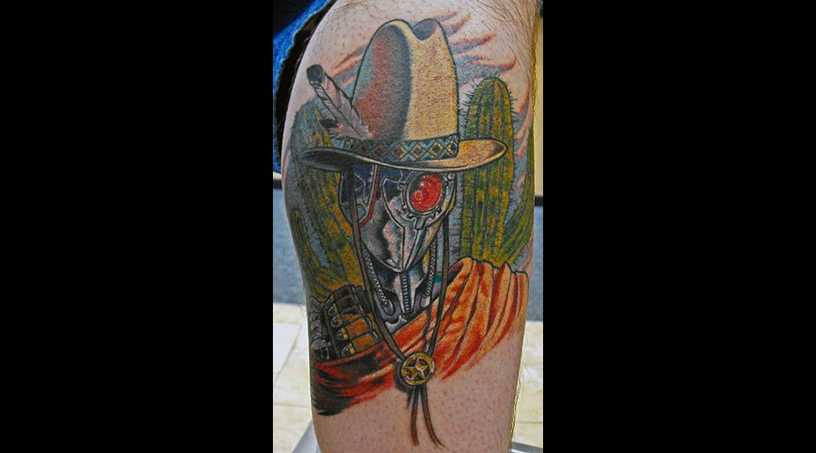 Robot  Cowboy  Weird Color Lower Leg