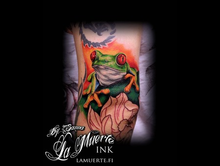 Frog Tattoo Color Arm