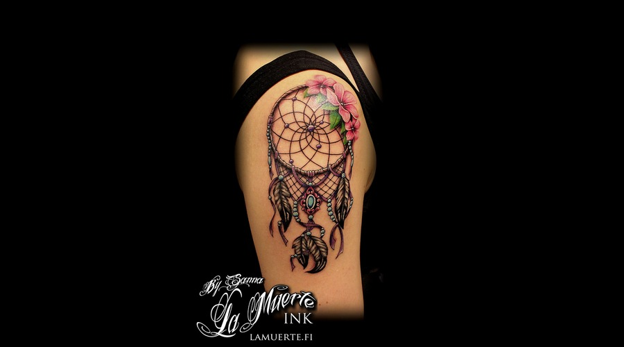 Dreamcatcher Tattoo Color Shoulder