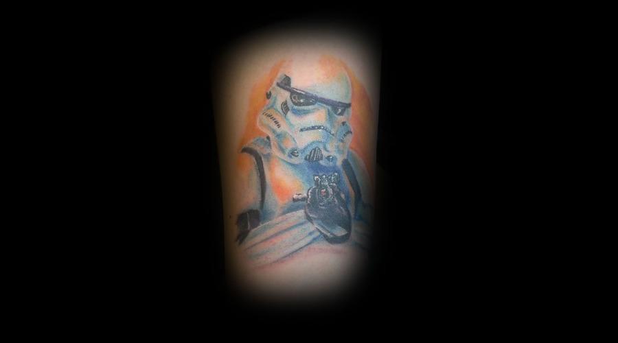 Storm Trooper  Storm Trooper Tattoo  Star Wars Color Forearm