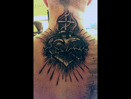 Heart Black Grey Back