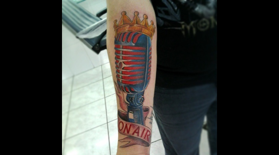 Realistic Tattoo  Realism  Microphone Color
