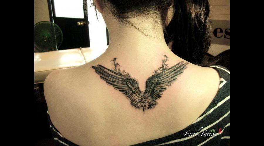 Wings Black Grey Back