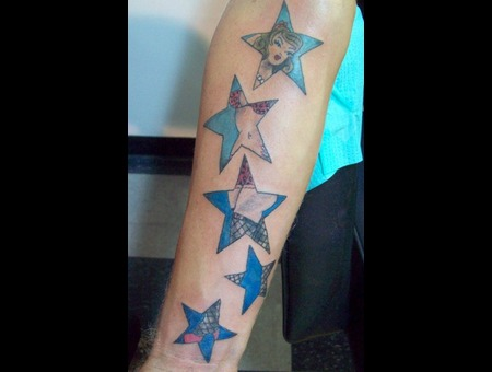 Pinup  Pin Up  Stars  Traditional   Color Arm