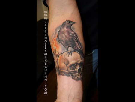 Tattoos Salem Ma  Mike Guinn  Tattoos Beverly Ma  Skull Tattoo Color Forearm