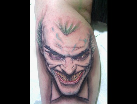 Skull  Roses  Black  Grey  Realism  Joker. Color