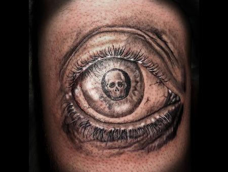 Skull  Roses  Black  Grey  Realism. Black Grey Thigh