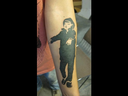 Sleepwalking Boy Black Grey Forearm