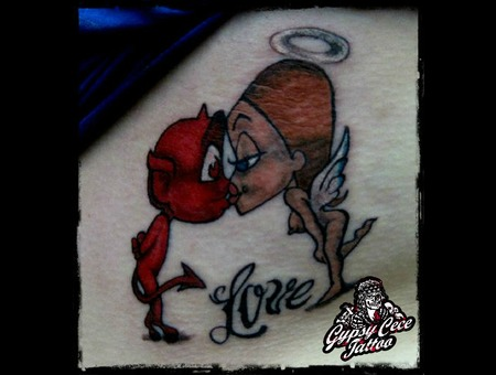 Devil Angel Love Color Ribs
