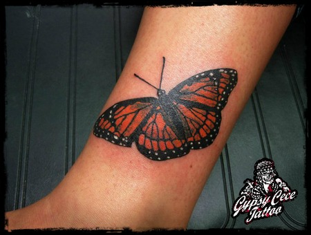 Butterfly Coverup Color Lower Leg