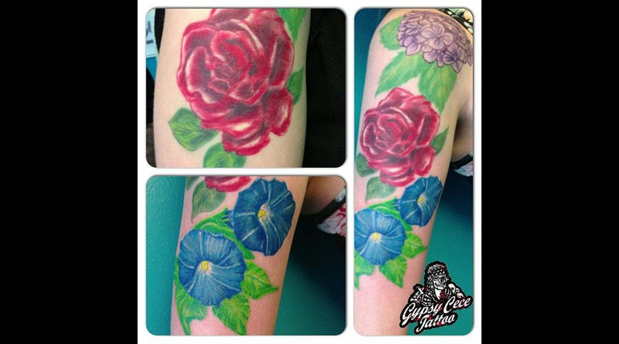 Colorful Flowers Color Arm