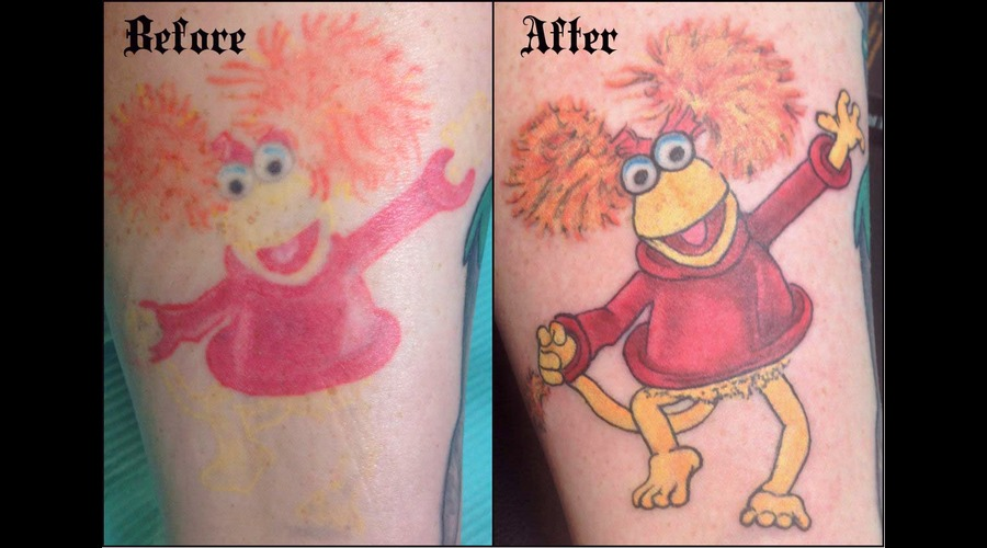 Cartoon Coverup Fixup Color Lower Leg
