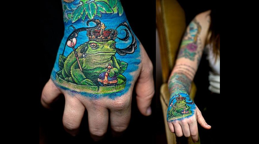 Hand  Frog  Toad  King Color Forearm