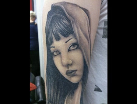 Face  Portrait Black Grey Arm