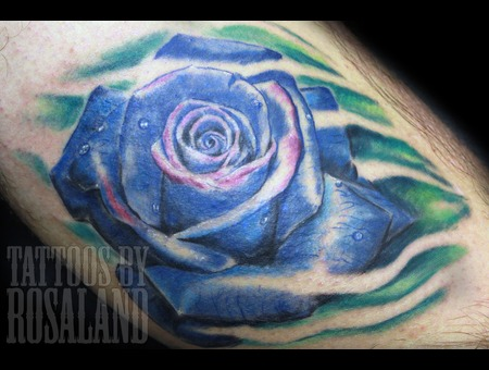 Rose  Blue  Realistic Color Lower Leg