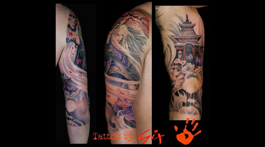 Lady Snowblood  Temple  Lotus  Japanese Color Arm