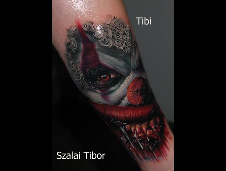 Clown  Scary Or Die  Horror  Movie Color Forearm