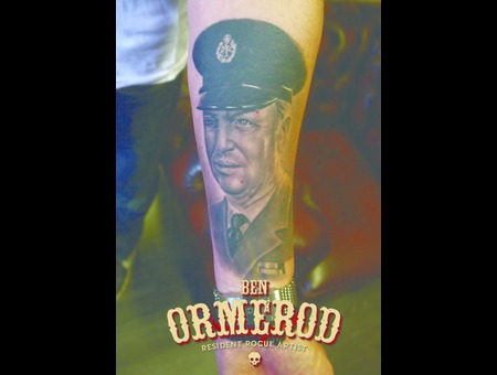 Healed Portrait Black Grey Arm
