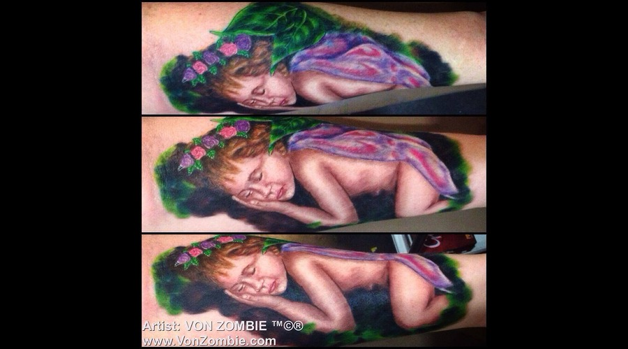Baby  Sleeping  Realism  3d  Fairy  Color   Color Forearm