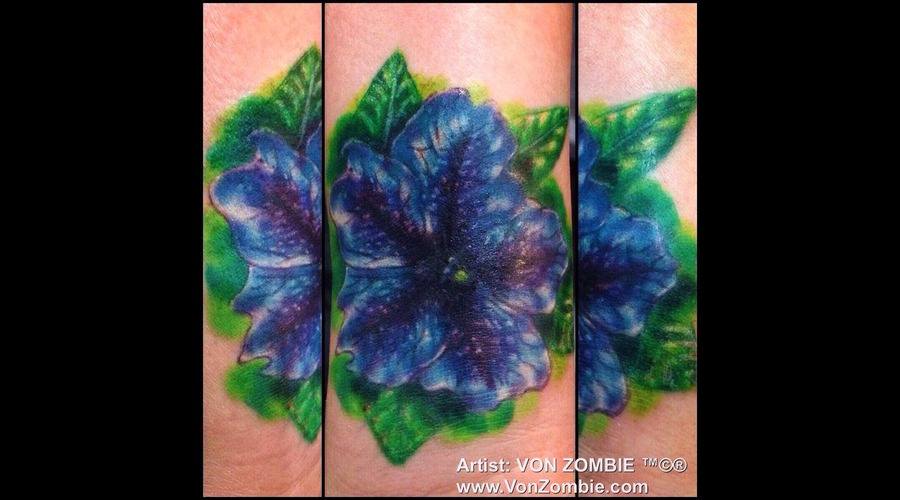Morning Glory  Flower  Realism  3d  Cover Up  Wrist Color Forearm