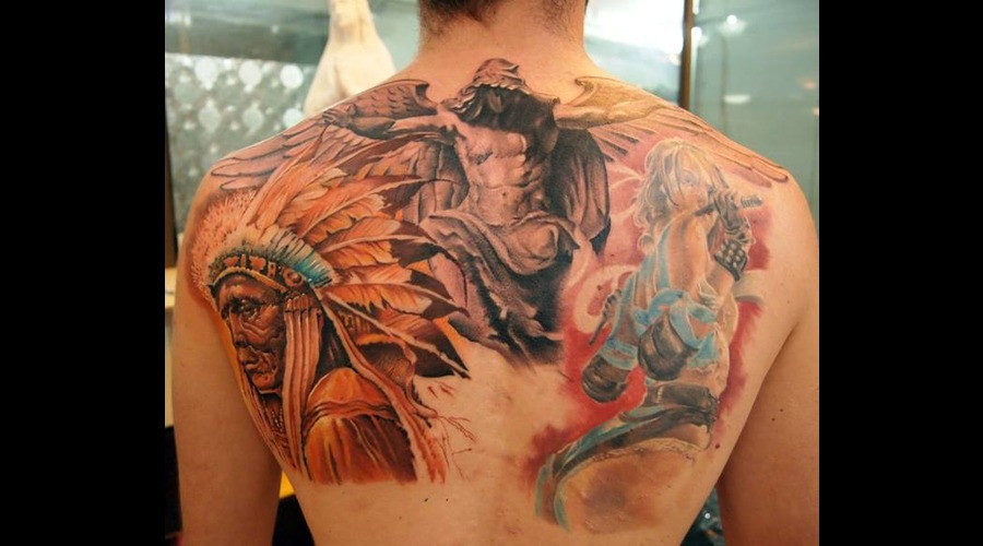 Realism Tattoo Portait Tattoo Color Back