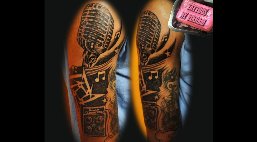 Hyderabadtattoo  Tattoosbyvikram  Tattooshyderabad  Tattoos By Vikram Black Grey