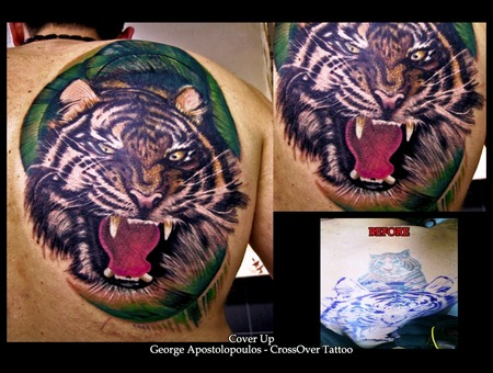 Cover Up  Animal  Tiger Color Back
