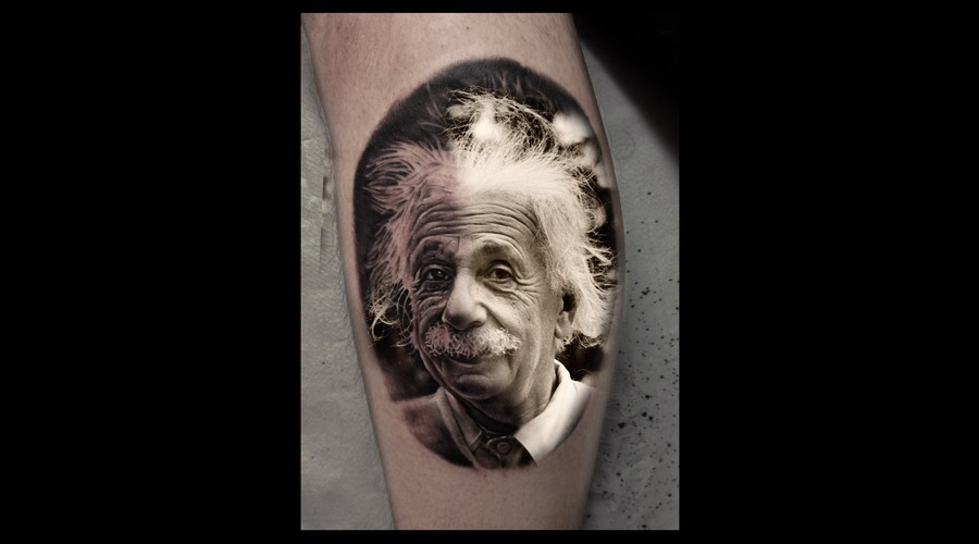 Toroktattoo Einstein Lower Leg