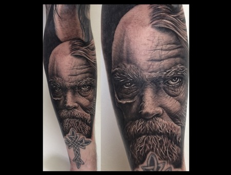 Toroktattoo Old Man Forearm