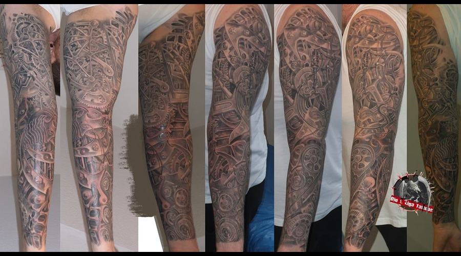 Biomechanic Black Grey Arm