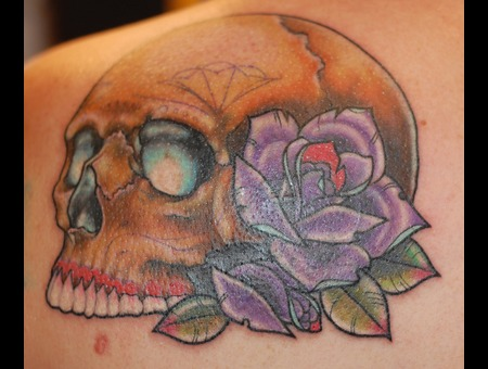 Sugar  Skull  Coverup  Rose