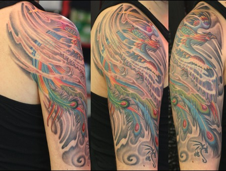 Phonix Tattoo  Japanase Tattoo  Vasovasiko Tattoo  Color Arm
