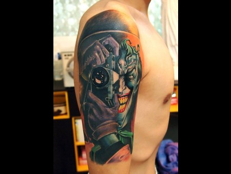 Joker Tattoo Color Arm