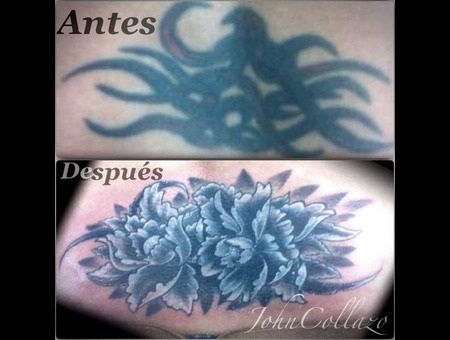 Tattoo Cover Black Grey