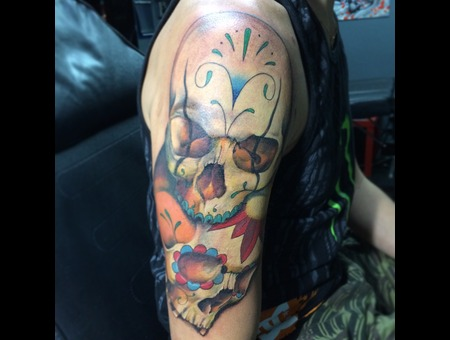 Skull Skulls Dayofthedead Color Arm