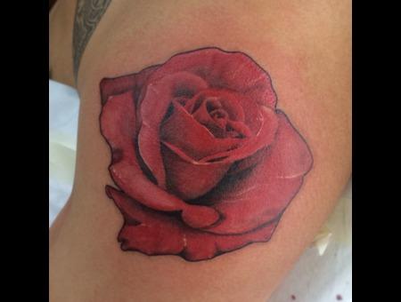 Rose Flower Color Shoulder