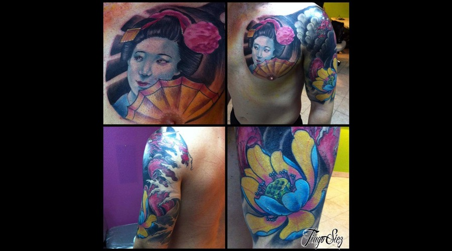 Color Tattoo  Tattoo  Oriental  Gueisha Color