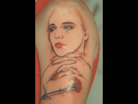 Photo Realism  Crying Woman  Broken Heart  Color Arm