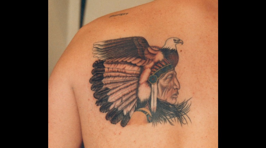 Native American Indian  Indian  Chief  Eagle  Southwestern. Color Shoulder