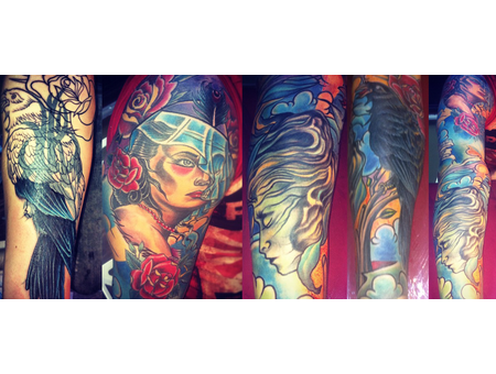 Cover Up Tattoo   Vaso Vasiko   Color Tattoo Color Arm