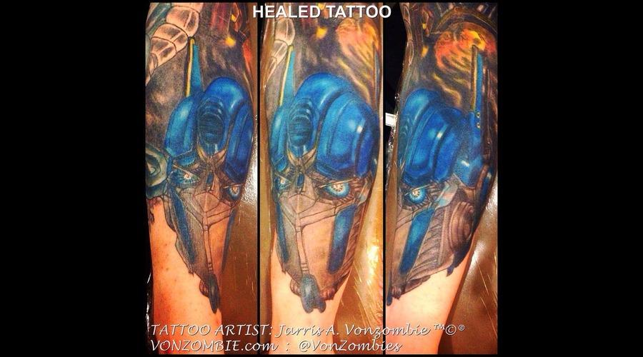 Autobot  Optimus Prime  Transformers  Realism  Portrait  Healed Color Forearm
