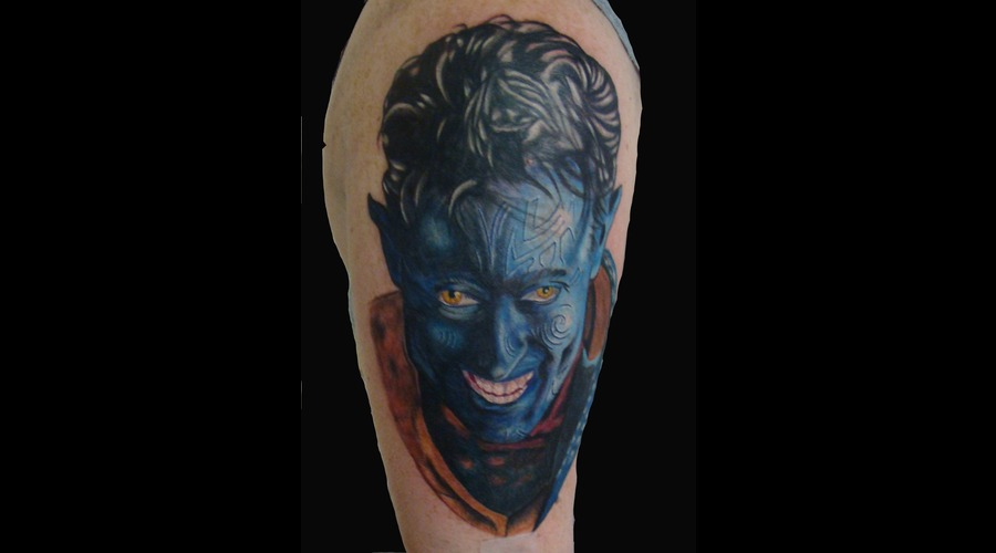 Nightcrawler  Xmen  Color  Tattoo  Arm