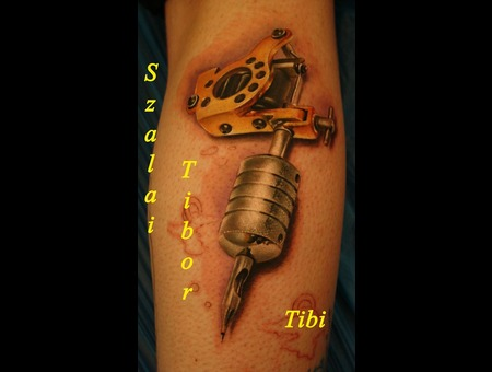 Tattoo Machine  Realistic  Micky Sharpz Color Forearm